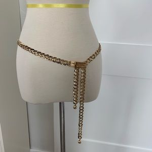 New St. John gold plated chain belt.